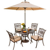 Repas en plein air Hanovre Traditions 5 pièces sertie de Table parapluie