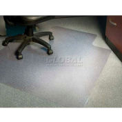 """Aleco® AnchorBar® Office Chair Mat for Carpet - 45""""W x 53""""L .130"""" Thick with Lip - Beveled"""