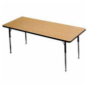 "ADA Activity Table - Rectangle - 30"" X 60"" Adj. Height, Light Oak"