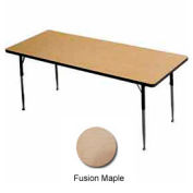 "ADA Activity Table - Rectangle - 30"" X 72"" Adj. Height, Fusion Maple"