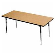 "ADA Activity Table -  Rectangle- 30"" X 72"" - Adj. Height - Light Oak"