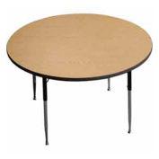 "ADA Activity Table - Round - 42"" Diameter, Adj. Height, Light Oak"