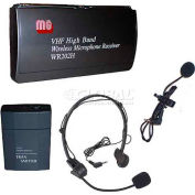 VHF Wireless Lapel and Headset Mic Kit - 1 Frequency