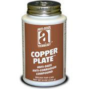 COPPER PLATE™ Anti-Seize W/O Graphite, Aluminum 1800°F, 8oz. Brush Top 12/Case - 21010 - Pkg Qty 12