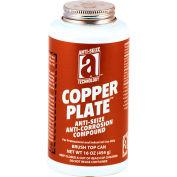 COPPER PLATE™ Anti-Seize W/O Graphite, Aluminum 1800°F, 1 Lb. Brush Top 12/Case - 21018 - Pkg Qty 12