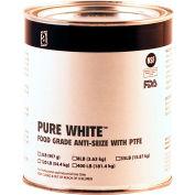PURE WHITE™ Food Grade Anti Seize w/PTFE 475°F, 2 Lb. Can 12/Case - 31025 - Pkg Qty 12