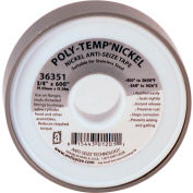 "POLY-TEMP® Nickel Anti-Seize High Density Metal Filled PTFE Tape 3/4""W x 600""L 6/Case - 36351 - Pkg Qty 6"