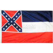 3X5 Ft. 100% Nylon Mississippi State Flag