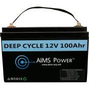 AIMS Power LFP12V100A, Power Lithium Iron LiFePO4 12V Battery 100 AH