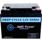 AIMS Power LFP12V50A, Power Lithium Iron LiFePO4 12V Battery 50 AH