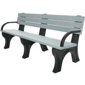 Polly Products Deluxe 6 Ft. Backed Bench with Arms, Brown Bench/Brown Frame