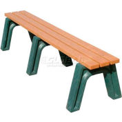 Polly Products Econo-Mizer 6 Ft. Flat Bench, Cedar Bench/Brown Frame