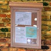 "Polly produits Small Message Center - 1 verso/No Post, Brown, 22"" W x 30"" H"