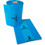 "Armor Poly VCI Bags 14""W x 10""D x 19""H 2 Mil Blue 500 Sheets Per Roll"
