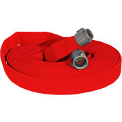 "Armored Textiles N51H25LNR50N JAFLINE Double Jacket Fire Hose, 2-1/2"" X 50 Ft, 400 PSI, Red"