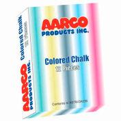 Aarco Colored Chalk 12 Boxes - Pkg Qty 2