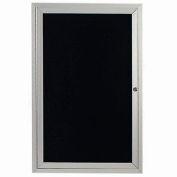 "Aarco 1 Door Letter Board Cabinet - 24""W x 36""H"