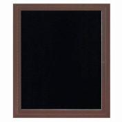 "Aarco 1 Door Letter Board Cabinet Bronzed Anod. - 30""W x 36""H"