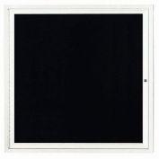"""Aarco 1 porte lettre à bord du Cabinet, lumineux, blanc laqué - 36"""" W x 36"""" H"""