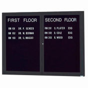 "Aarco 2 Door Letter Board Cabinet Black Powder Coat - 48""W x 36""H"