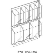 """Clear-Vu Combination Pamphlet/Magazine Display - 30""""W x 23""""H"""