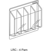 "Clear-Vu Pamphlet Display 4 Pamphlet Pockets - 21""W x 11""H"