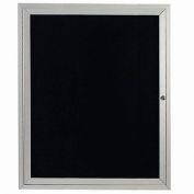 "Aarco 1 Door Enclosed Letter Board Cabinet - 30""W x 36""H"