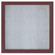 "Aarco 1 Door Aluminum Framed Enclosed Bulletin Board Bronze Anod. - 36""W x 36""H"