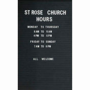 """Aarco Removable Vinyl Letter Board For Illuminated Unit - 20""""W x 28""""H"""
