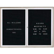 """Aarco 2 porte l'eau automne Style lettre Board Silver - 48"""" W x 36"""" H"""
