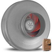 Vortex Powerfan 6'' en ligne conduit ventilateur VTX600-D - 497 CFM avec le Speed Dial-A-Temp Control Kit