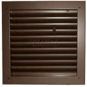 "Fire-Rated Door Louver 1900A1212B, Adjustable Z-Blade, Self-Attach, 12"" X 12"", Bronze"