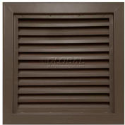 "Steel Door Louver 800A11212B, Inverted ""Y"" Blades, 50% Free Area, 12"" X 12"", Bronze"