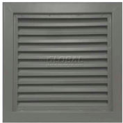 "Steel Door Louver 800A11212G, Inverted ""Y"" Blades, 50% Free Area, 12"" X 12"", Gray Primered"