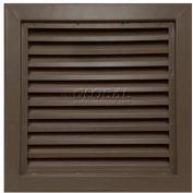"Steel Door Louver 800A12412B, Inverted ""Y"" Blades, 50% Free Area, 24"" X 12"", Bronze"