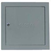 Panneau d'accès métallique polyvalent, serrure à clé, blanc, 22 po l x 22 po H