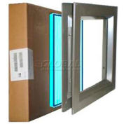 "Louver & Steel Beveled Vision Lite VLFEZ0836B TEMP PAK, 8"" X 36"", Bronze with Tempered Glaze"