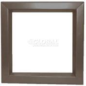 "Louver & Steel Beveled Vision Lite VLFEZ2030B, 20"" X 30"", Bronze"