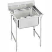 Advance Tabco® 93-1-24 Regaline 1 Compartment Sink, 20L x20W Bowl, 8 Splash, No Drainboards