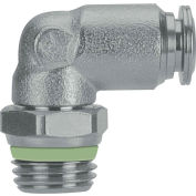 """Alpha Fittings Swivel Male Elbow, 60110-10-3/8, 10mm Tube x 3/8"""" BSPT Thread, Stainless Steel"""