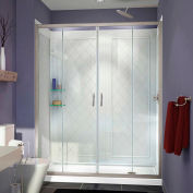 "DreamLine DL-6112R-04CL Visions Shower Door 30"" x 60"" Shower Base Right Drain & QWALL-5 Backwalls"