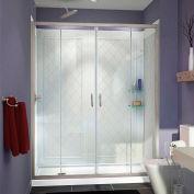 """DreamLine DL-6114L-04CL Visions Shower Door 34"""" x 60"""" Shower Base Left Drain & QWALL-5 Backwalls"""
