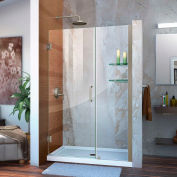 "DreamLine™ Unidoor Frameless Adjustable Shower Door SHDR-20457210S-04 W/Glass Shelves, 45""-46"""