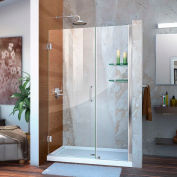 """DreamLine™ Unidoor douche réglable sans cadre porte son-20467210S-01 W/verre étagères, 46""""-47»"""