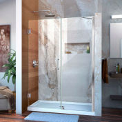 "DreamLine™ Unidoor Frameless Adjustable Shower Door SHDR-20497210-01, 49""-50"""