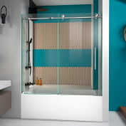"DreamLine™ Enigma x Fully Frameless Tub Door SHDR-61606210-08, 56""-59"" x 58"""
