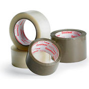 """Synthetic Rubber Adhesive Tape - 2"""" X 144 Yards - 1.54 Mil - Economy Grade - Case Of 48 - Tan - Pkg Qty 48"""