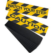 "No Skidding Self-Adhesive Anti-Slip Floor Tapes - 6""Wx24""L - Anti-Slip High Traction Cleats"