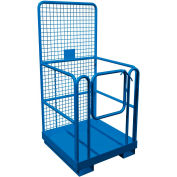 "Canway Safety Work Platform - 36""L x 36""W - 82""H Platform - 800 Lb. Capacity - Blue - w/ Casters"