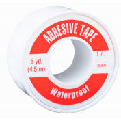 Waterproof Adhesive Tape, Vinyl/Cloth, 2.5 cm x 4.6 m, Spooled